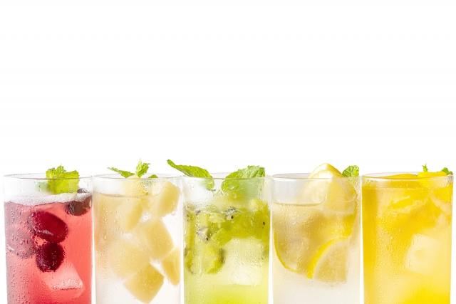 果物とグラス