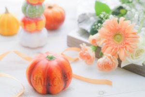 かぼちゃと、花