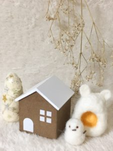 お家と雪だるま