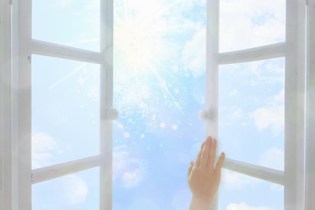 窓開けて換気